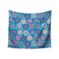 """Julia Grifol """"Floral Winter"""" Wall Tapestry"""