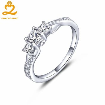 HeartByHeart Natural Topaz Engagement Rings for Women 925 Sterling Silver Wedding Fine Jewelry