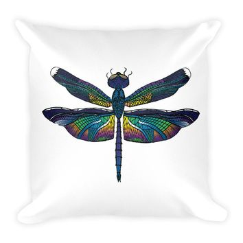 Dragonfly Square Pillow