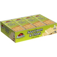 Austin Sour Cream & Chives Cracker Snack Sandwiches 8-1.38 oz. Packs - Walmart.com