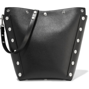 Mulberry - Camden studded textured-leather shoulder bag