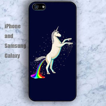 Unicorn Rainbow colorful iPhone 5/5S case Ipod Silicone plastic Phone cover Waterproof