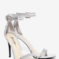 Nasty Gal Tricks of the Braid Patent Leather Heel - Silver