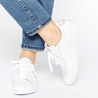 Lacoste White Leather Carnaby Evo EDG Trainers