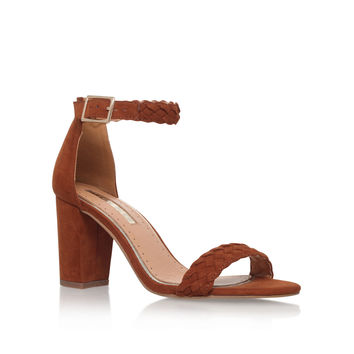 CAIN Miss KG Cain Tan Mid Heel Sandals by MISS KG