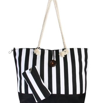 Striped Jumbo Tote