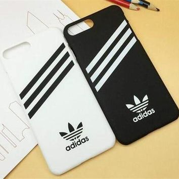 ADIDAS Popular Stripe Print iPhone 6 6s 6Plus 6sPlus 7 7Plus 8  8Plus Phone Cover Case