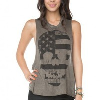 Brandy ♥ Melville |  Kate American Flag Skull Tank - Graphic Tops - Clothing