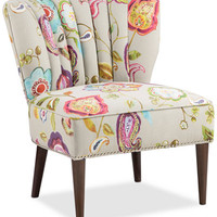 Kenzie Floral Fabric Accent Chair, Quick Ship - Chairs & Recliners - Furniture - Macy's