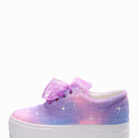 New 2015 Galaxy Lace-up Platform Sneaker. 2 Color Available.