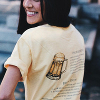 HP Recipe Short Sleeve Butter Colored Comfort Colors Unisex Adults