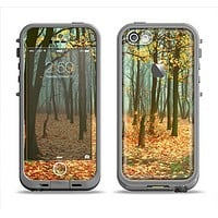 The Subtle Gold Autumn Forrest Apple iPhone 5c LifeProof Fre Case Skin Set