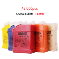 1 Bottle & 42000Pcs Color Crystal Paintball Bullet Water Soft Bullets Nerf Gun Toy Gun Accessories Crystal Mud Soil Orbeez Ball