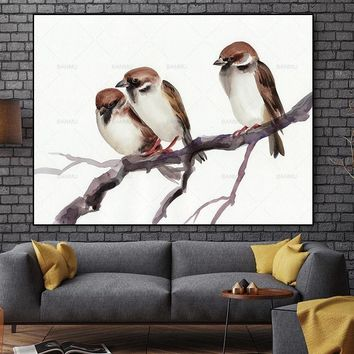 Wall art Animal Canvas Painting Pictures abstract oil painting art  prints on canvas decoration for living room  picture poster