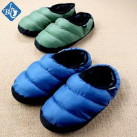 New 2016 Winter Warm Down Cotton Slipper Couple House Slippers Cotton-padded Indoor Pa