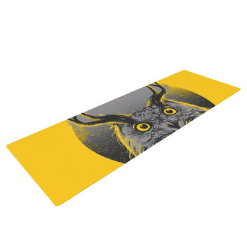 "BarmalisiRTB ""Majesty"" Yellow Owl Yoga Mat"