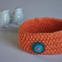Baby Knit Headband baby girl knit accessories orange baby headband Newborn Cotton Headband Blue Button headband
