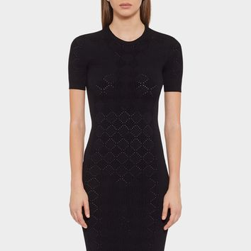 Versace Rombo Bodycon Knit Dress for Women | US Online Store