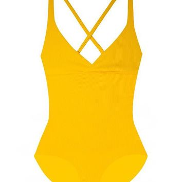 MAYLANA Collins Golden Ribbed One Piece