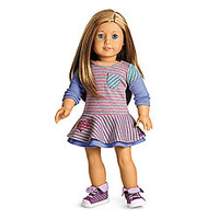 American Girl® Clothing: School Stripes Dress for Dolls + Charm