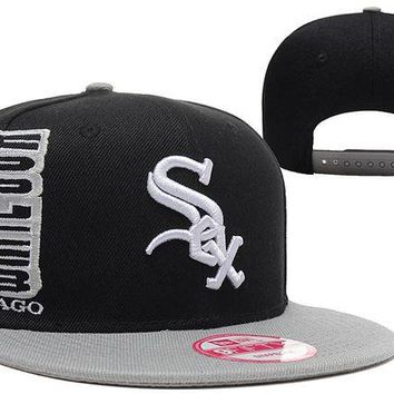 DCCKBE6 Chicago White Sox 9FIFTY MLB Baseball Hat Black