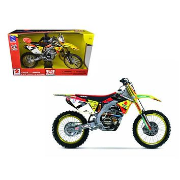 Suzuki Factory Racing RM Z450 #7 James Stewart Dirt Bike Motorcycle Model 1/6 by New Ray