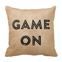 Game On Game Over Burlap Gamer