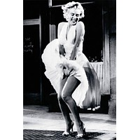 Marilyn Monroe White Dress Celebrity Poster by Sam Shaw