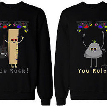 Funny Matching BFF Sweatshirts for Best Friends You Rock and Rule!