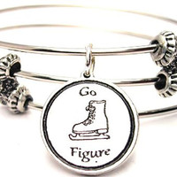 Go Figure Figure Skating Triple Style Expandable Bangle Bracelet