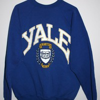 BeWorn — Vintage Dark Blue University of Yale College Jumper