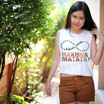 Hakuna Matata infinte style - Premium cotton Crop tank, Tank Top, T-shirt, Long sleeve, unisex shirt, women tank, girl tank