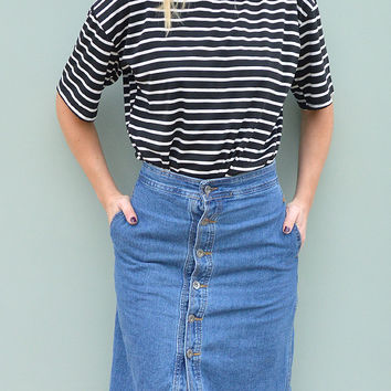 Black Monochrome Oversize Stripe T-shirt