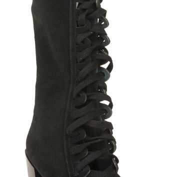 Jeffrey Campbell Leola Mid-Boot | Vintage Inspired Shoe | Black Suede