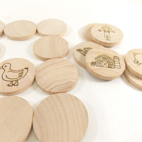 Farm Wooden Matching Memory Game