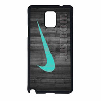 Nike Mint Just Do It Wooden Samsung Galaxy Note 4 Case