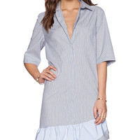 Thakoon Striped Shirt Dress in Blue