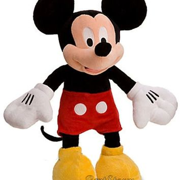 "Licensed cool NEW Disney Store Exclusive Mickey Mouse Plush 18"" Toy Classic Stuffed Doll NWT"