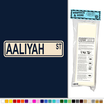 Aaliyah Street Sign Wall Vinyl Art