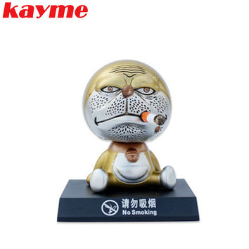 Kayme nodding dog car ornament auto decoration bobble head toy shaking head dog dashboard dolls auto inside crafts