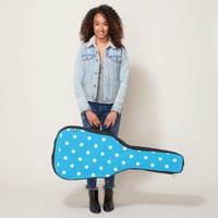 Pool Party Blue Polka Dots Guitar Case