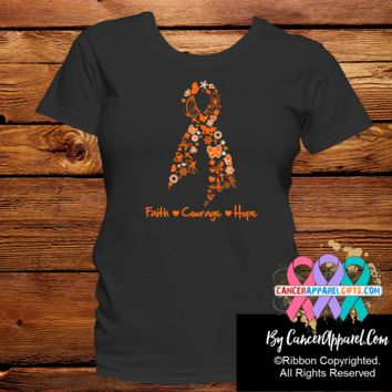 Leukemia Awareness Faith Courage Shirts