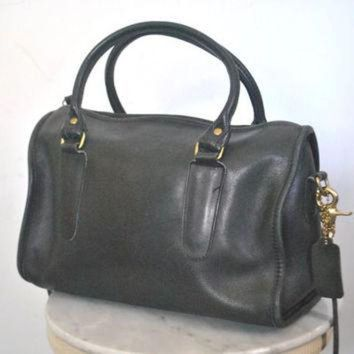 Large Coach Black Purse / Speedy Doctor Bag - Beauty Ticks