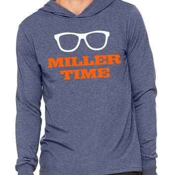 MILLER TIME Broncos Gym Gift Marathon Unisex Jersey Long Sleeve Hoodie