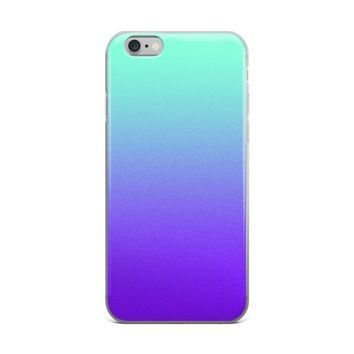 Turquoise Purple Ombre Fade iPhone Case