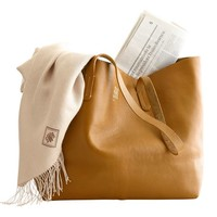 Everyday Leather Tote, Warm Colors