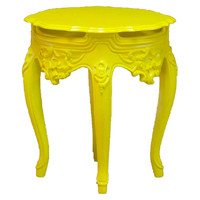 Tenley Side Table, Yellow, Outdoor Side Tables