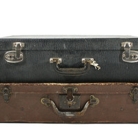 Vintage Suitcase / Vintage Suitcase Stack / Old Luggage