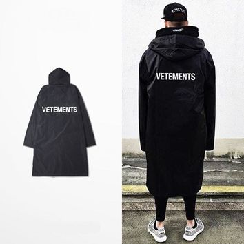 QIYIF OVERSIZED vetements RAIN COAT jacket windbreaker waterproof