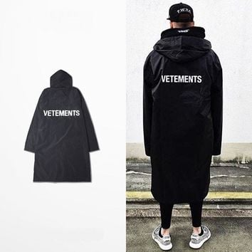 SPBEST OVERSIZED vetements RAIN COAT jacket windbreaker waterproof